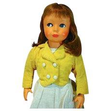 "Charming Bonomi Italian Hard Plastic 18"" Doll, 1960's"