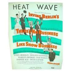 Original Marilyn Monroe Sheet Music, Heat Wave, 1955