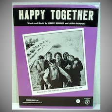 Rare Mint Sheet Music Happy Together, The Turtles, 1966