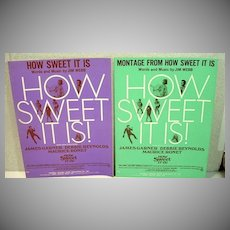 "Pair of Rare Jim Webb Sheet Music Songs from ""How Sweet It Is"" 1968"