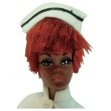 Vintage Mattel TNT Julia Doll in Two Piece Outfit, 1969