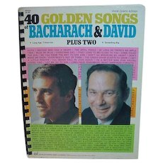 Vintage Vocal Piano Songbook 40 Golden Songs of Bacharach&David, 1970!