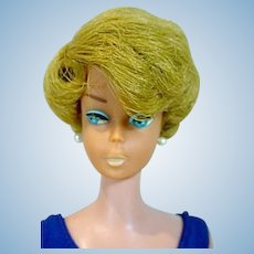 Vintage Mattel Blond Side Part Barbie Bubble Cut, 1960's