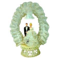 Vintage 1960's Wedding Cake Tapper, Bride and Groom