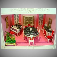 "Ideal Petite Princess, Vintage Dinning Room Setting, Complete with ""Fantasy Room""Shadow Box"