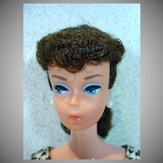 Vintage Brunette #6 Ponytail Barbie w/Orig. Blush, 1963