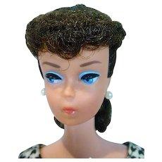 Vintage Brunette #6 Ponytail Barbie w/Orig. Blush, 1963