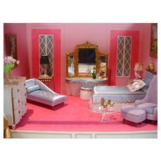Vintage Petite Princess Bedroom and Lounge Settings By Ideal from 1964