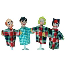 Set of Li'l Abner Hand Puppets, 1957, Yokum Family