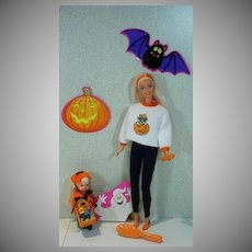 Mattel Happy Halloween Barbie and Kelly Set, 1996