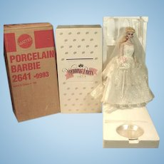 Barbie Porcelain Wedding Party Doll, MIB, 1989, Mattel