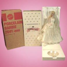 Barbie Porcelain Wedding Party Doll, MIB, 1989, Mattel