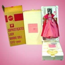 Vintage Mattel MIB Sophisticated Lady Porcelain Barbie Doll, 1990