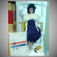 Vintage Mattel Gay Parisienne Porcelain Barbie, MIB, 1991
