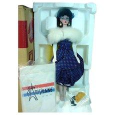 Vintage Mattel Gay Parisienne Porcelain Barbie, MIB, 1991