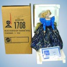 MIB Mattel Blue Rhapsody Porcelain Barbie, 1986, Ltd. Ed.