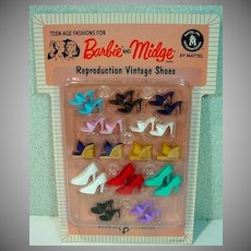 MOC Barbie & Midge Reproduction Vintage Shoe Pack, Mattel