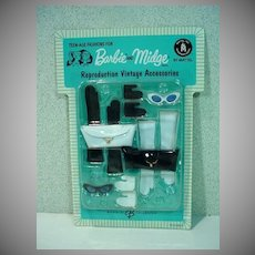 MOC Barbie and Midge Reproduction Vintage Accessories Pack, Mattel