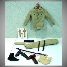 Vintage Mattel Ken Outfit, Army and Air Force, 1963, Complete