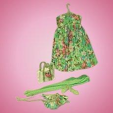 Vintage Mattel Francie Outfit, Tenterrific, 1968, Complete!