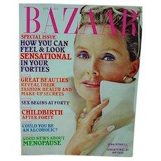 Vintage Harper's Bazaar Fashion Magazine, 1973 Dina Merrill Cover!