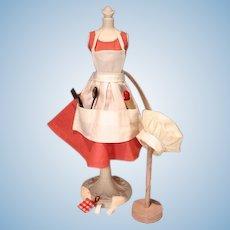 Vintage Mattel Barbie Outfit, Barbie-Q, 1960, Complete!
