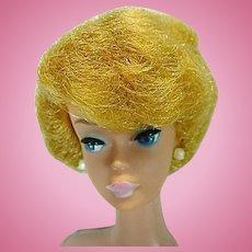 Vintage Mattel Barbie White Ginger Bubble Cut Doll, 1961
