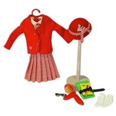Vintage Mattel Skipper Outfit, School Girl, 1965