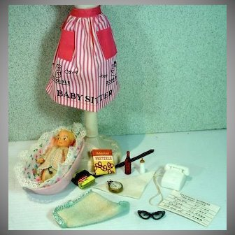 Vintage Mattel Barbie Outfit, Barbie Baby-Sits, 1963, Complete