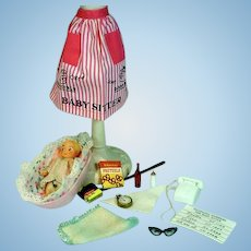 Vintage Mattel Barbie Outfit, Barbie Baby-Sits, 1963, Complete