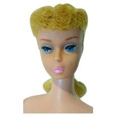 Vintage Mattel Blond PonyTail Barbie with Pink Lips, 1962