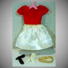 VIntage Mattel Skipper Outfit, Silk 'n Fancy, 1964