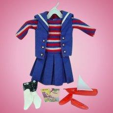 Vintage Mattel Skipper Outfit, Ship Ahoy, 1965, Complete