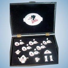 35th Anniversary Barbie Porcelain Tea Set, Ltd. Ed. Velvet Box