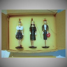MIB Ashton Drake Set of 3 Barbie Heirloom Ornaments