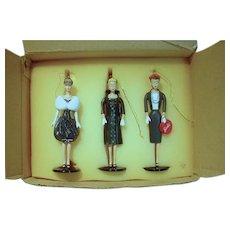 MIB Ashton Drake Set of 3 Barbie Heirloom Ornaments