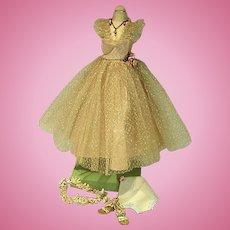 Vintage 1950's Madame Alexander Cissy Size Cocktail Dress & Accessories
