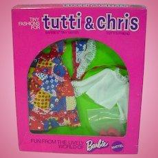 NRFB Mattel Tutti Outfit, Child's Birthday, 1976, Euro Market
