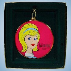 Boxed Ideal Tammy Doll Christmas Ornament from 1996