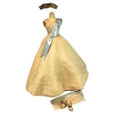 Madame Alexander Cissy Queen Gown, Sash, Crown, Slip and Heels, 1950's