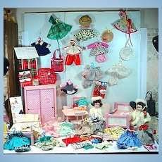 Huge Vogue Ginny Lot, Dolls, Clothing, Accessories&Furniture, 1950's