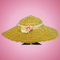 Vintage Madame Alexander Cissy Size Picture Hat, 1950's