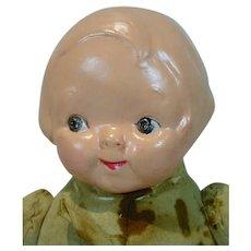 E.I.F. Composition Head & Cloth Body Campbell Kid Doll, 1910