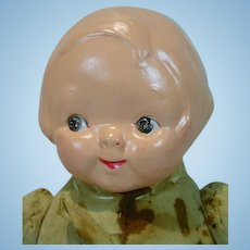 E.I.F. Composition Head & Cloth Body Campbell Kid Doll, 1910