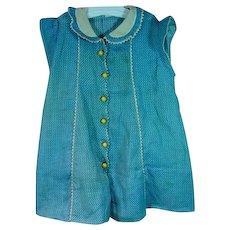 Vintage 1930's Child's/Doll Summer Dress, Size 2
