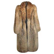 Vintage 1990's Full Length Ladies Fox Fur Coat!