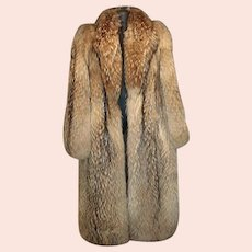 Vintage 1990's Full Length Unisex Finnish Racoon Fur Coat!