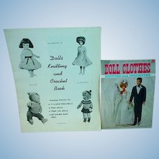 Two Vintage Doll Knitting and Chrochet Books, 1960's