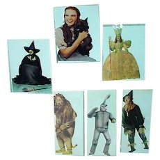 Set of 6 Paper House Wizard of Oz Greeting Cards, Die Cut, MIP, 1991