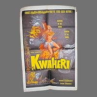 "Orig. One Sheet Movie Poster for  1965 Exploitation Film, ""Kwaheri"""